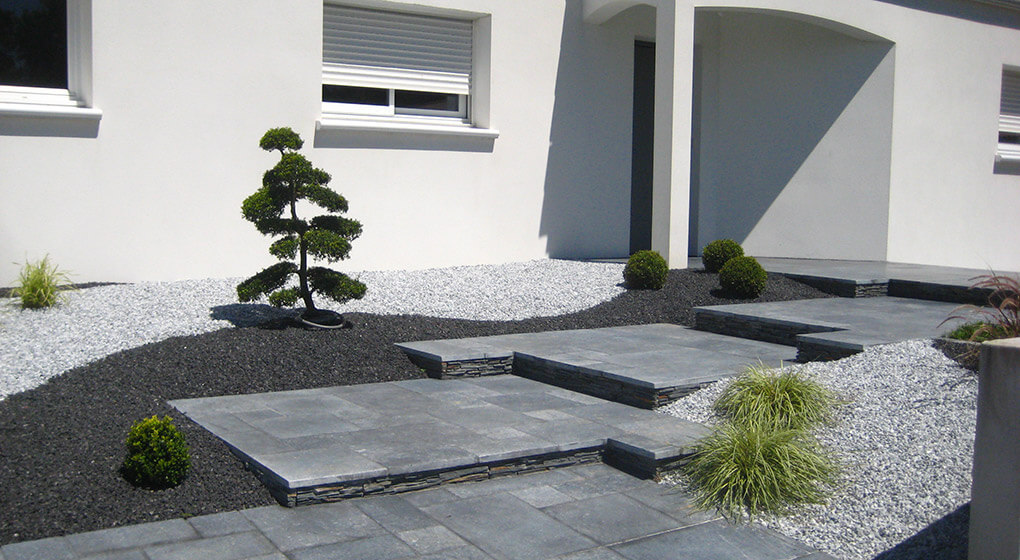 O 39 xygen paysagiste en vend e cr ateur de paysages en for Entree de jardin moderne