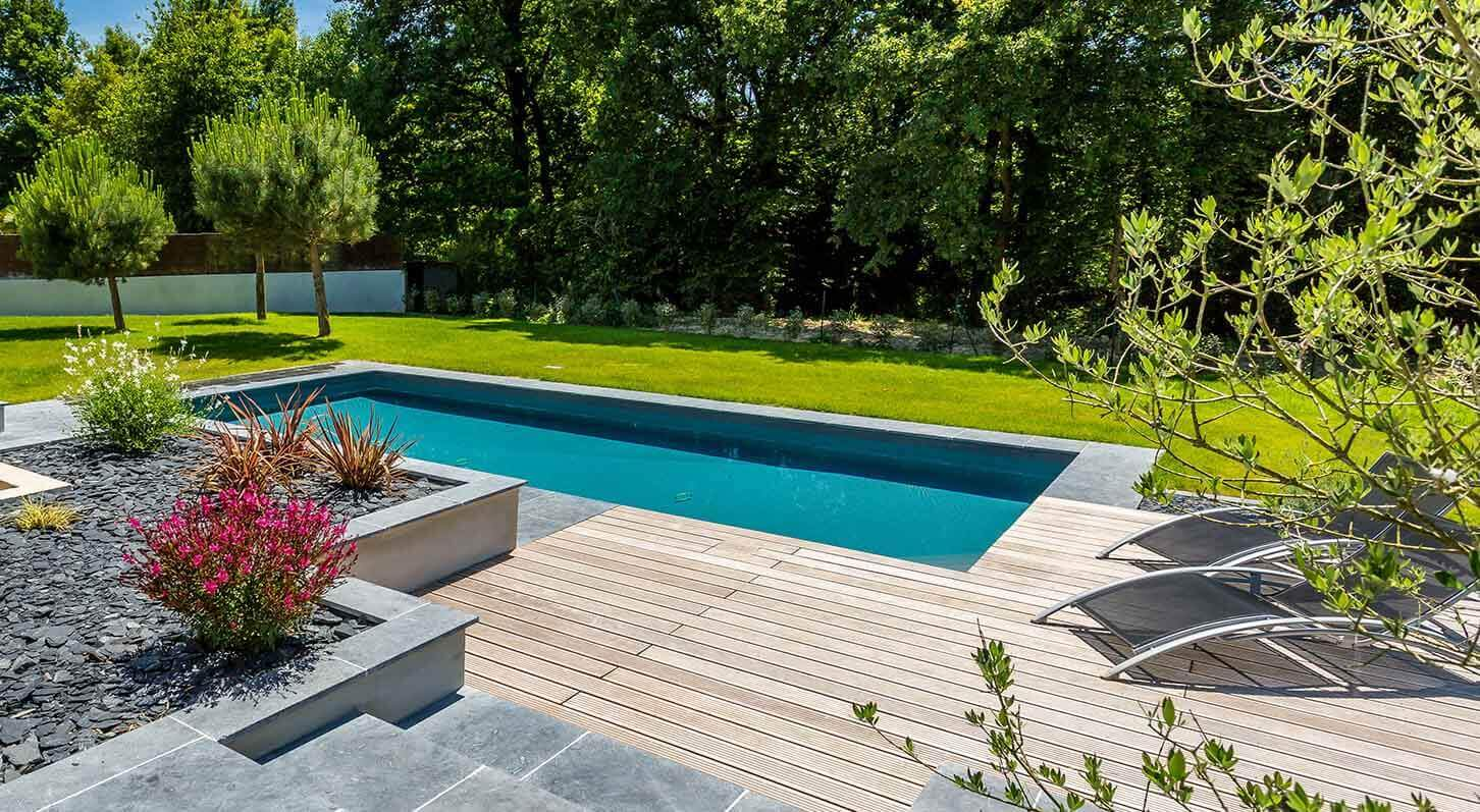 Nos r alisations de jardin et am nagement d 39 ext rieur en for Agencement piscine